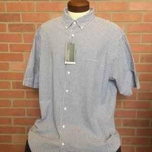 Roundtree & Yorke blue gingham Shirt 2XT (4N28-30)